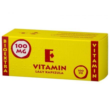 BIOEXTRA VITAMIN E 100 mg lágy kapszula 100 db