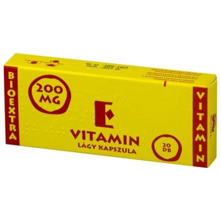 BIOEXTRA VITAMIN E 200 mg lágy kapszula 20 db