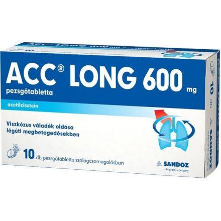 ACC LONG 600 mg pezsgőtabletta 10 db