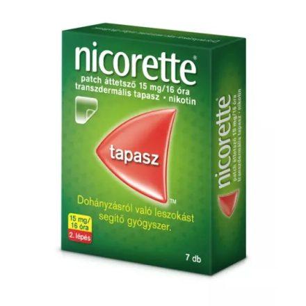 NICORETTE PATCH áttetsző 15 mg/16 óra transzdermális tapasz 7 db
