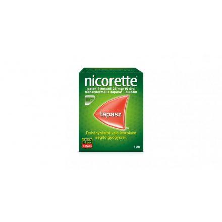 NICORETTE PATCH áttetsző 25 mg/16 óra transzdermális tapasz 7 db