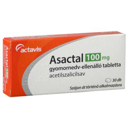 ASACTAL 100 mg gyomornedv-ellenálló tabletta 30 db