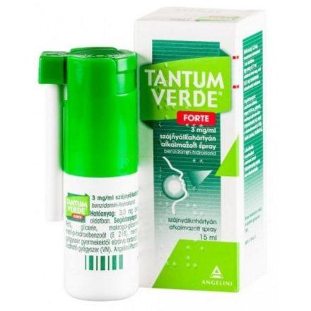 TANTUM VERDE FORTE 3 mg/ml szájnyálkahártyán alkalmazott spray 1 doboz