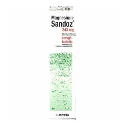 MAGNESIUM-SANDOZ 243 mg pezsgőtabletta 20 db