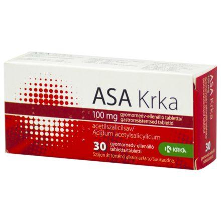 ASA KRKA 100 mg gyomornedv ellenalló tabletta 30 DB