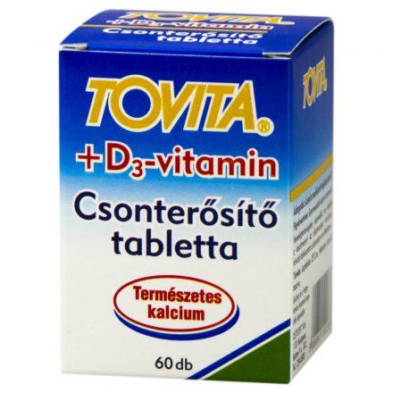 TOVITA+D3-VITAMIN csonterősítő tabletta 60 db