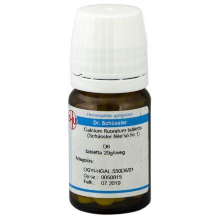 DR. SCHÜSSLER 1. CALCIUM FLUORATUM D6 tabletta 80 db