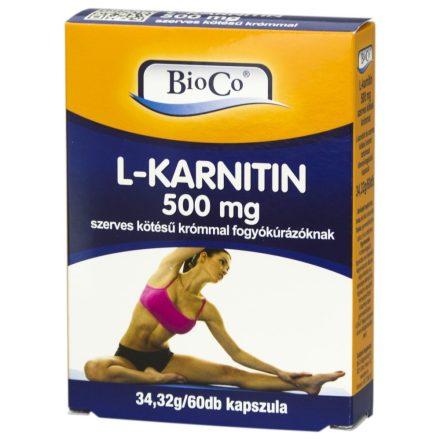 BIOCO L-KARNITIN 500 mg kapszula 60 db