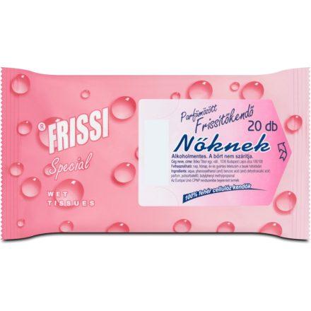 FRISSI parfümözött frissítőkendő nőknek 20 db
