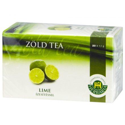HERBÁRIA ZÖLD TEA lime ízesítéssel 20 db