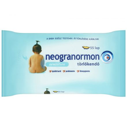 NEOGRANORMON SENSITIV törlőkendő 55 db