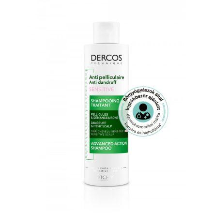 VICHY DERCOS korpásodás elleni sampon érzékeny fejbőrre 200 ml