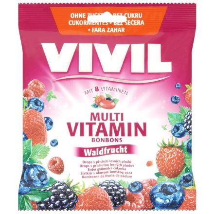 VIVIL MULTIVITAMIN erdeigyümölcs cukorka 60 g