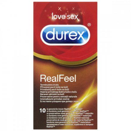DUREX REAL FEEL LATEXMENTES óvszer 10 db