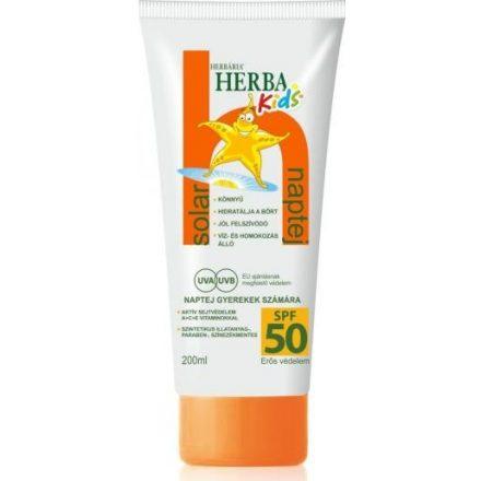 HERBÁRIA SPF50+ naptej gyermekeknek 200 ml