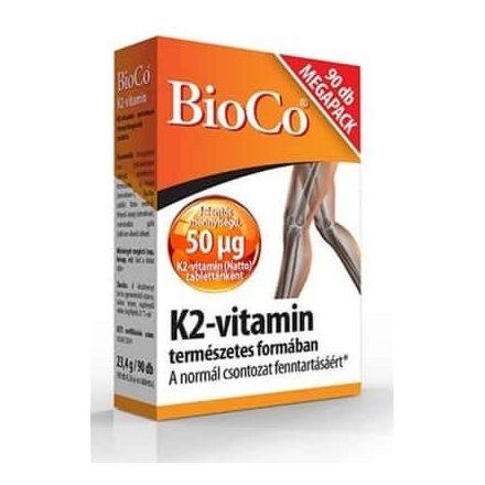 BIOCO K2-VITAMIN tabletta 90 db