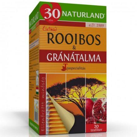 NATURLAND ROOIBOS + GRÁNÁTALMA filteres tea 20 db