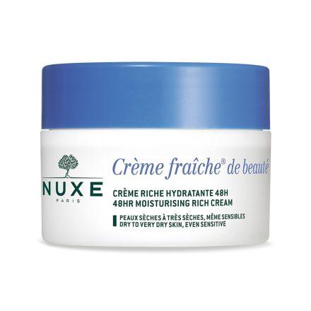 NUXE CREME FRAICHE 48 h nyugtató és gazdag hidratáló arckrém száraz bőrre 50 ml