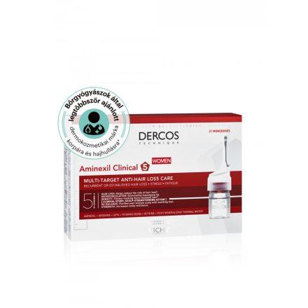 VICHY DERCOS AMINEXIL CLINICAL 5 többfunkciós hajápoló program hajhullás ellen nőknek 21 x 6 ml